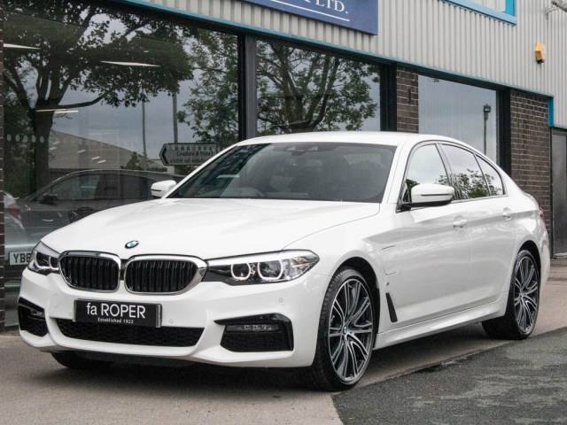 BMW 5 Series 2.0 530e xDrive M Sport Plus Pack Auto Saloon Petrol / Electric Hybrid Alpine White at fa Roper Ltd Bradford