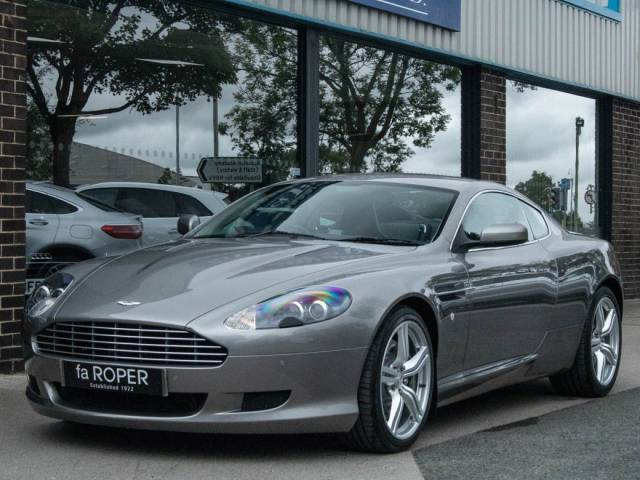 Aston Martin DB9 5.9 V12 Coupe Auto 470ps Sport Pack Coupe Petrol Tungsten Silver Metallic at fa Roper Ltd Bradford