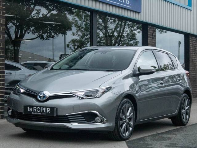 Toyota Auris 1.8 Hybrid Excel CVT Auto Hatchback Petrol / Electric Hybrid Granite Grey Metallic at fa Roper Ltd Bradford