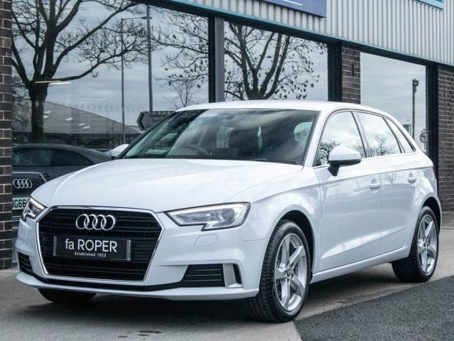 Audi A3 Sportback 35 1.5 TFSI Sport 5 door 150ps Hatchback Petrol Glacier White Metallic at fa Roper Ltd Bradford
