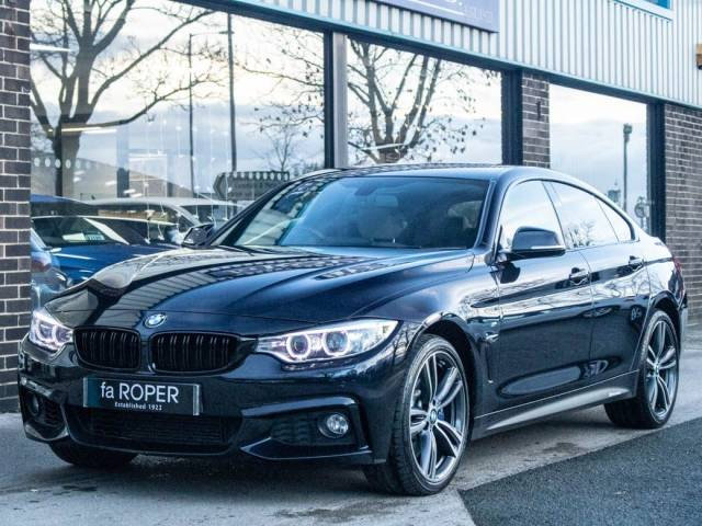 BMW 4 Series 3.0 Gran Coupe 435d xDrive M Sport Plus Auto Coupe Diesel Carbon Black Metallic at fa Roper Ltd Bradford