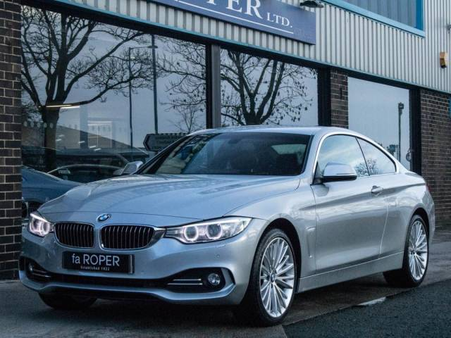 BMW 4 Series 3.0 435d xDrive Coupe Luxury Auto Coupe Diesel Glacier Silver Metallic at fa Roper Ltd Bradford